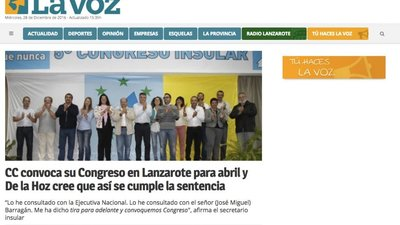La Voz de Lanzarote launches design on its website with Opennemas!